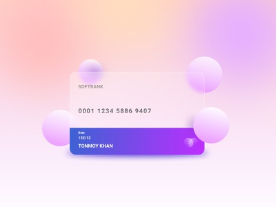 Glass Morphism Card gradients figmadesign vector glassmorphism ux ui