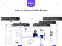 Udvas personal portfolio PSD Tempate