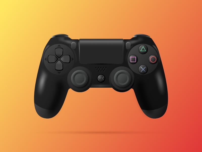 PS4 Controller psd playstation illustration sketch videogames controller ps4