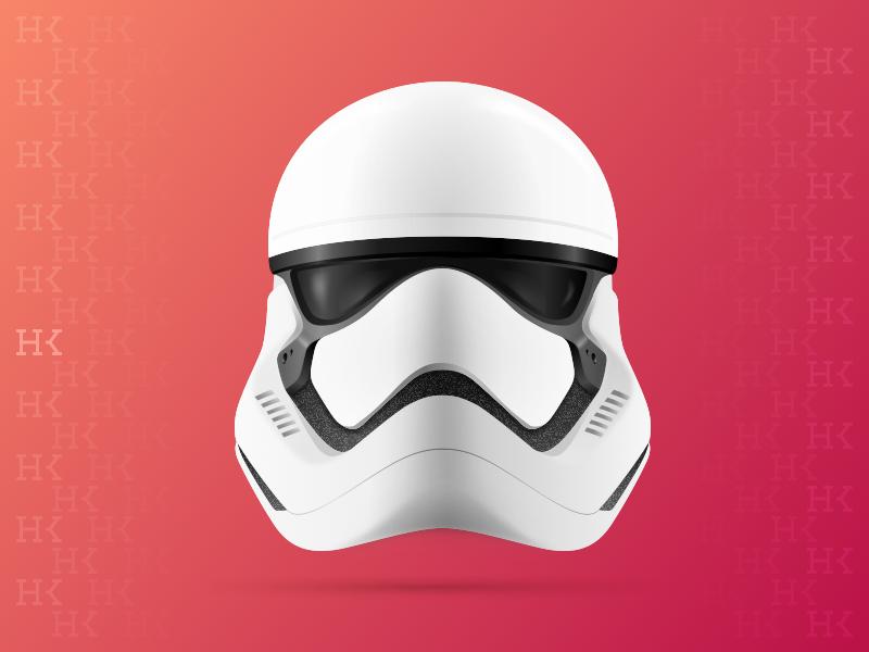 Stormtrooper helmet sketch illustration starwars stormtrooper