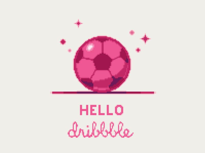 Hello Dribbble! dribbble soccer ball soccer