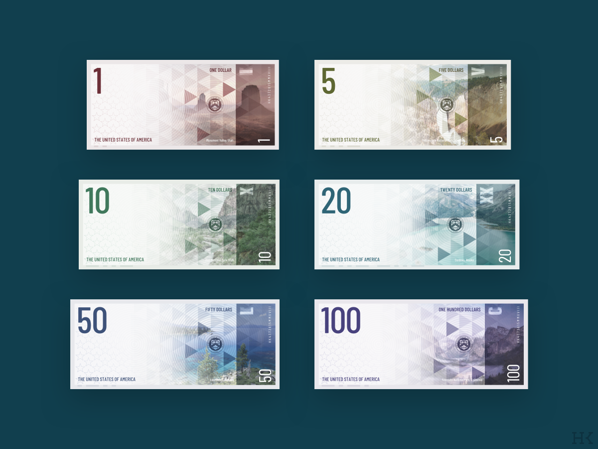 US Dollar Redesign redesign currency dollar banknote