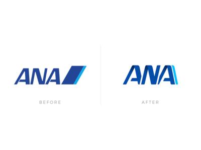 ANA logo | Before & After sketch visual design before after logodesign logo