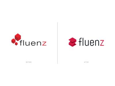 Fluenz - Logo (before after)