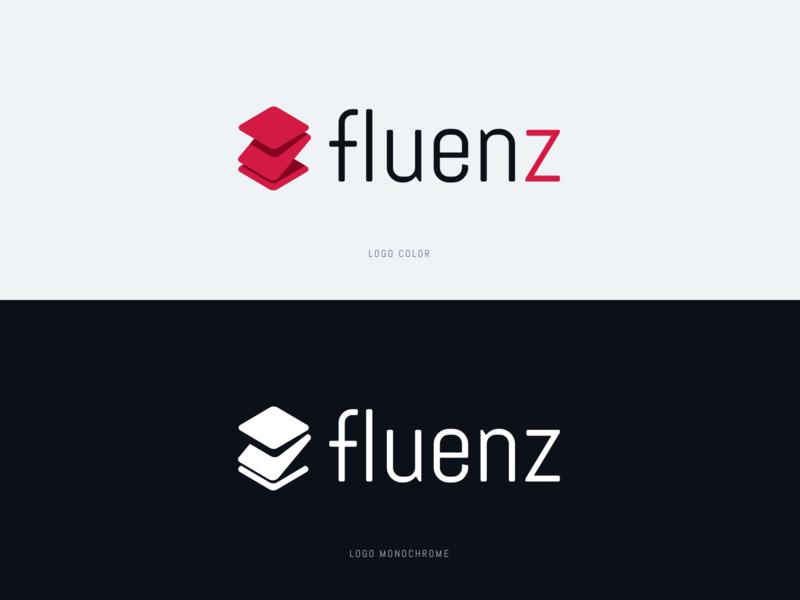 Fluenz - Logo (Color & Monochrome) sketch logo design monochrome brand design logo