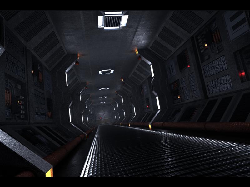 SciFi Spaceship Hallway scifi 3drendering 3dmodeling blender