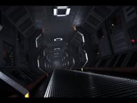 SciFi Spaceship Hallway