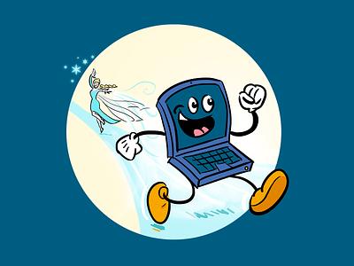 Open source debate illustration disney illustration draw frozen computer software open source