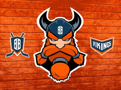 Vikings Hockey vector branding roller hockey roller illustration vikings viking hockey sport brand