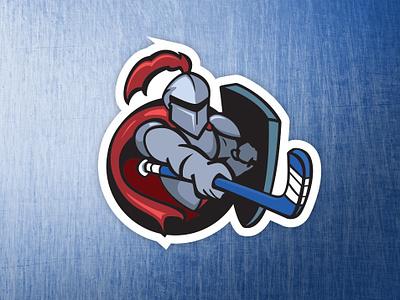 Knight Hockey Logo shield logo hockey knight