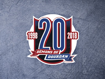20 years anniversary - Hockey Team Logo roller french celebration hockey 20 demons years twenty anniversary logo dourdan