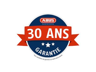 ABUS - 30 years warranty warranty label guarantee 30 garantie abus