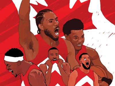 Toronto Raptors 2019 NBA Champions Poster