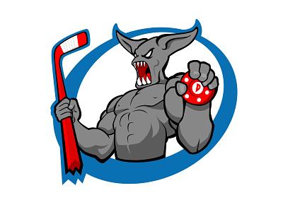 Demon Hockey Logo roller hockey hockey logo demon