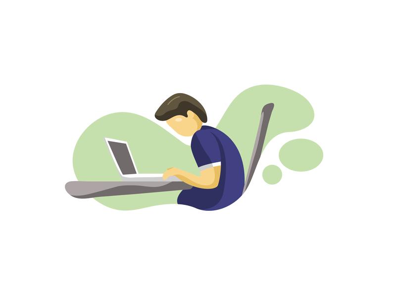 Office Scenes - 02 stressed flat  design work desk office website ux branding vector illustrator design illustration ui