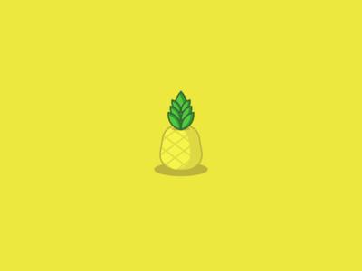 Pineapple yellow fruit pineapple icon logo branding website design vector mobile app ux illustrator ui geometric illustration