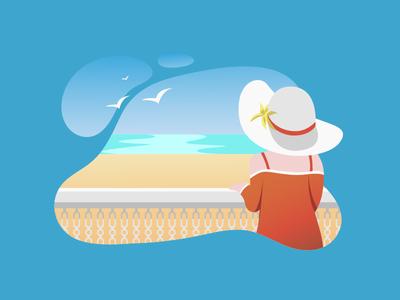 Balcony Blues vector design website illustrator ui illustration
