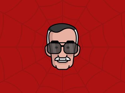 Stan Lee stan lee stanlee stan marvel icon logo design vector illustrator ui geometric illustration