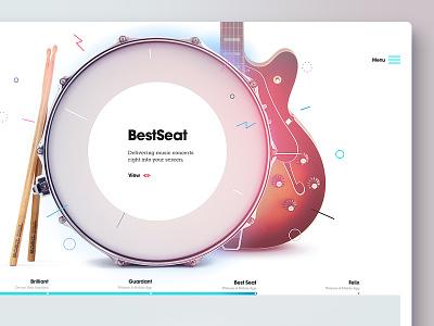 44 studio — Sneak Peek 2 header website visuals agency