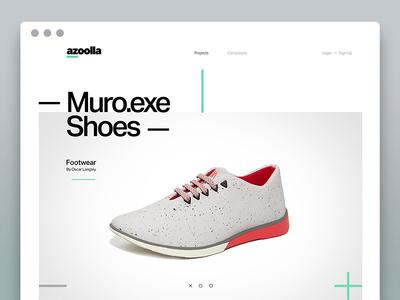 Azoolla Website — concept industrial design makers startup store marketplace website