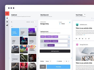 Meshapp — WIP content management web app tool dashboard saas