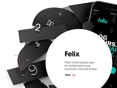 44 Studio — website header detail 44 studio felix website visuals header agency