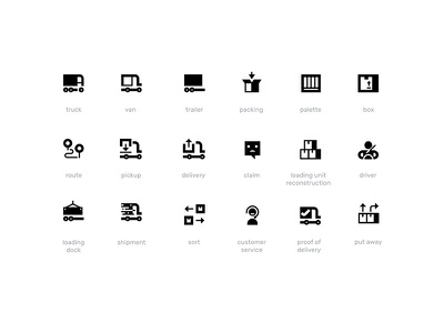 Logistics — 16x16px Icon Set for WebApp 16px web app logistics icons