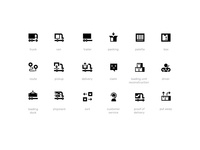 Logistics — 16x16px Icon Set for WebApp