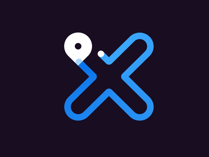 Max — mileage tracking app logo brand ride sharing tracking mileage logotype logo