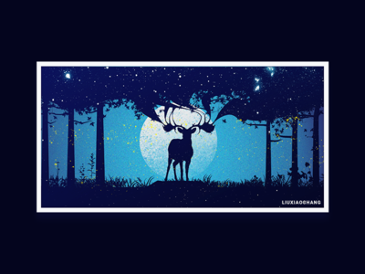 The night sky and the Elk
