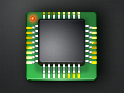 IC Chip Icon black green icon photoshop
