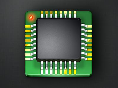 IC Chip Icon black green icon photoshop