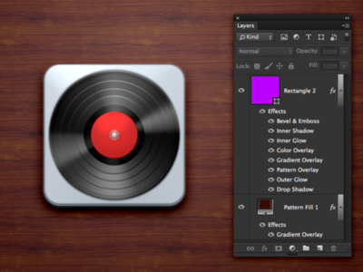 Layer Style Challenge Record Player Icon