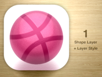 One Layer Style Challenge - Dribbble Icon