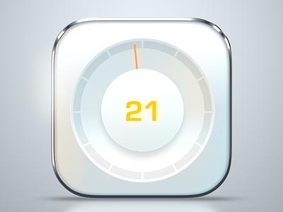 meter app icon white metal photoshop ios app icon