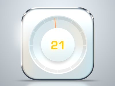 meter app icon white metal photoshop ios app icon