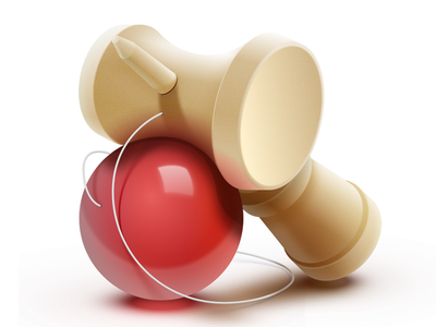Kendama Icon - Sketch.app icon toy kendama wood ball red sketch.app