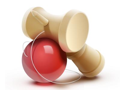 Kendama Icon - Sketch.app icon toy kendama wood ball red sketch.app