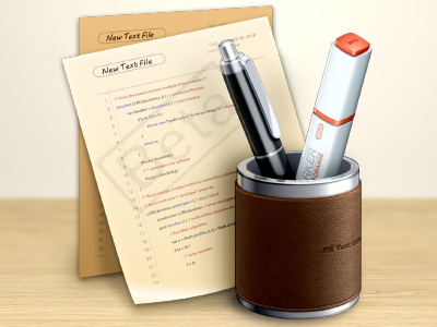 Text Editor Icon Beta1 texteditor icon metal leather photoshop beige