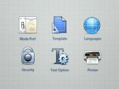 Toolbar Icons icons preference retina