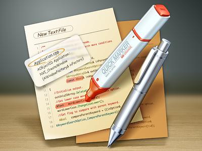 mi version 3 ( Text Editor Icon ) text editor pen marker beige paper icon