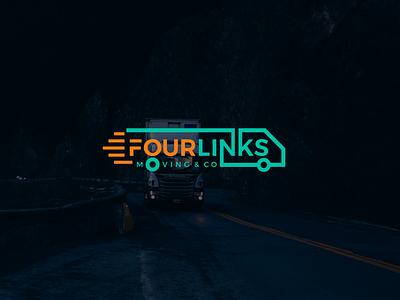 Moving Company Logo brand logo-design icon identity minimal-logo logodesign design branding logo truck logistics moving