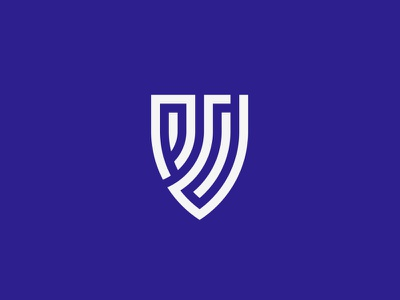 PD+SHIELD badge logo shield logo logotype vector lettermark brand icon identity minimal-logo logodesign illustration branding logo