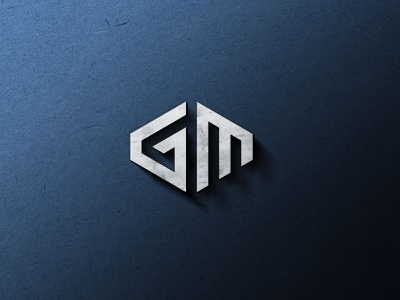 GM Logo security logo print design icon logodesign minimal gm logo gm icon identity vector illustration minimal-logo shield logo gm logo branding logo