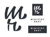 Ministry Rest // Custom Script & Logo
