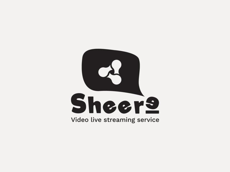 Sheere logo design streaming streaming app advertising agency vector typography company communication adobe illustrator logo design branding