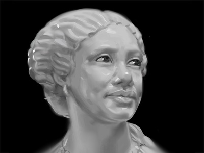 Mary Seacole Bust Study henry weekes getty women in history historical women photoshop portrait lighting study sculpture digital art digital painting study