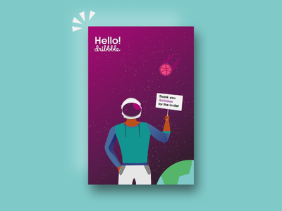 Hello Dribbble!! newbie first time dribbble welcome