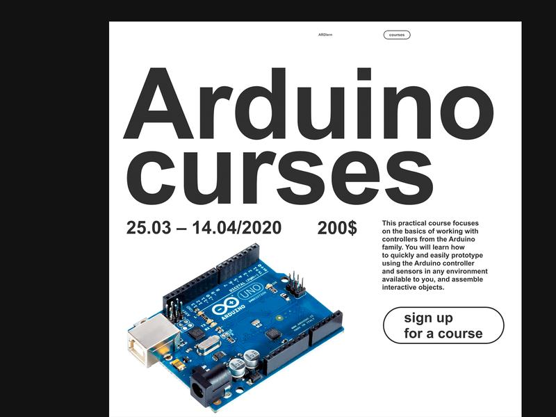 Arduino curses grid minimalism minimal brutalism brutal typography website web design