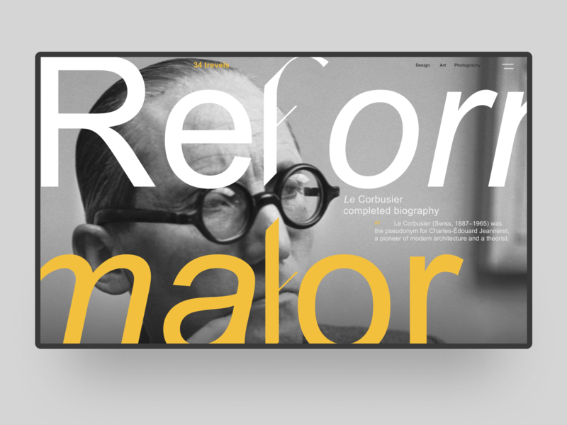 Refotmator / Longread desktop first screen home firstscreen typogaphy ux web brutalism brutal branding ui website typography design